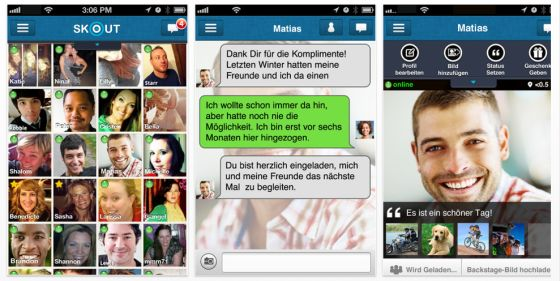SKOUT Chat-App für iPhone, iPod Touch, iPad und Android