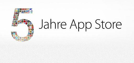 Fünf Jahre App Store - wir gratulieren Apple zu dem gigantischen Erfolg und bedanken uns für die vielen Möglichkeiten, die durch den App Store auch für uns als App Agency entstanden sind. Wir freuen uns auf die nächsten 5 Jahre!