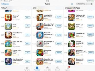Schluss bei 150: Die App Store Charts sind auf den Mobilgeräten um ein Viertel geschrumpft. Das wird den Kampf um einen Platz in den Charts noch mehr befeuern.